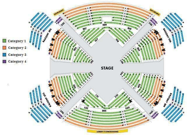 Beatles Love Seating Chart