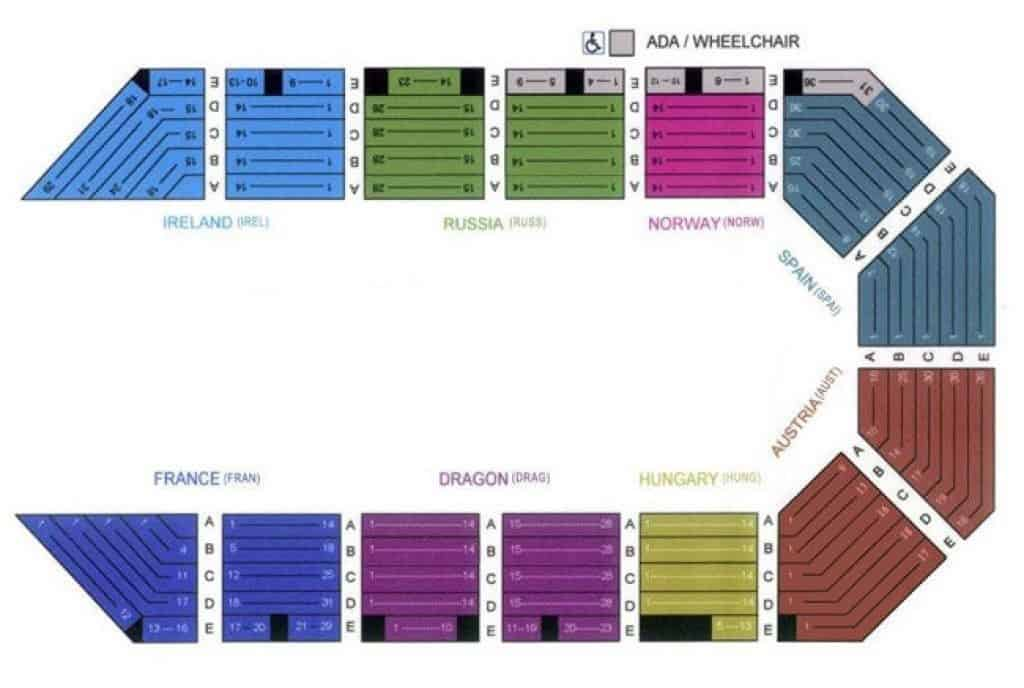 Tournament Of Kings Seating Chart