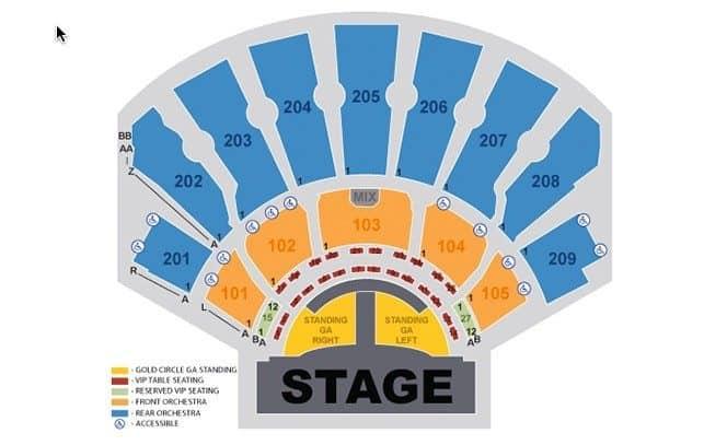 Backstreet Boys Las Vegas Seating Chart