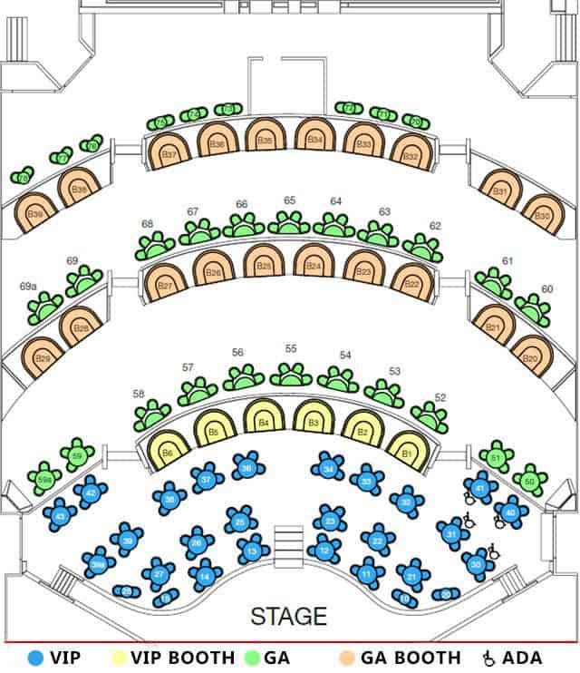 MJ Live Seating Chart
